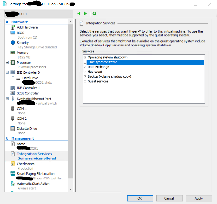 The Windows Time Service, Hyper-V Hosts, and DCs that are VMs  – IT Blog