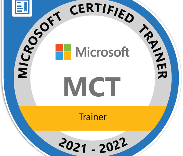 Renewed Microsoft Trainer Certification for 2021-2022